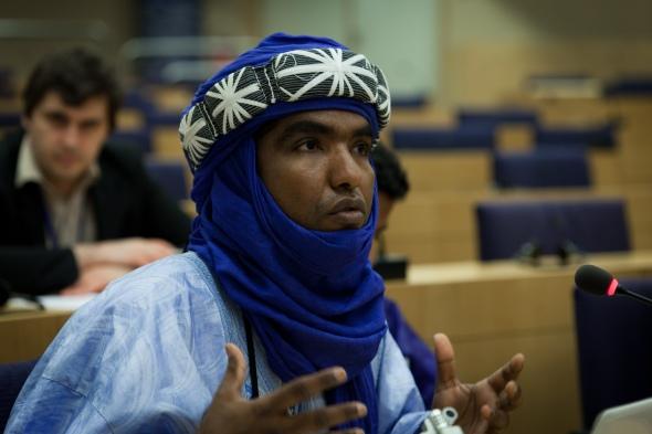 Moussa Ag Assarid au Parlement européen